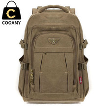 a2db900bbac Men s Military Canvas Backpack Zipper Rucksacks Laptop Travel Shoulder  Mochila Notebook Schoolbags Vintage College School Bags