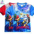 New Children Boys Clothing Legoes Ninja go Shirt For Boy Kids Tops Tees 2017 New Fashion High quality Summer Short Sleeve T Shir