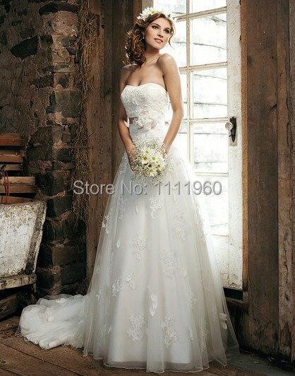 Elie Saab Vestido De boda con Top De encaje novia Appliques vestidos ...