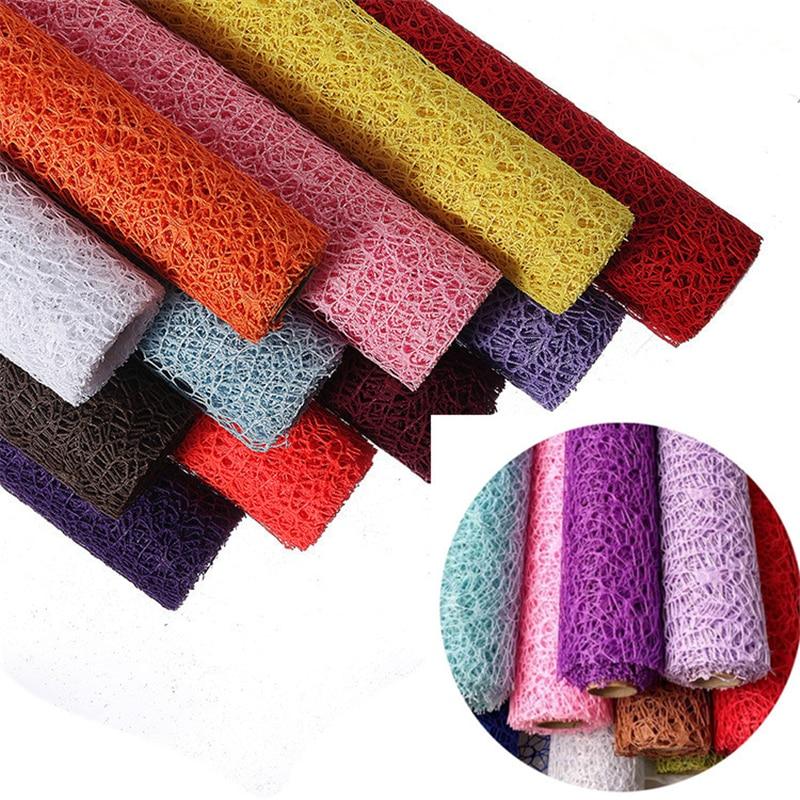 1 рулон, роскошная подарочная упаковочная бумага, материал для упаковки цветов, украшения для свадебной вечеринки, элемент из жаккардовой сетки, марля, 5 ярдов * 50 см