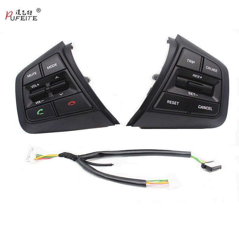 PUFEITE Für Hyundai ix25 (creta) 1.6L 2.0L Lenkrad Tempomat Tasten Remote Volumen taste schalter auto zubehör
