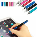 Nova chegada 2 in1 capacitive touch screen stylus caneta esferográfica para ipad tablet laptop 6 cores