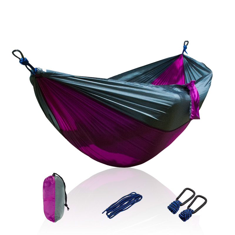 Acehmks Portable Parachute Double Hammock Garden Outdoor Camping Travel Furniture Survival Hammocks Swing Sleeping Bed camping hiking travel kits garden leisure travel hammock portable parachute hammocks outdoor camping using reading sleeping