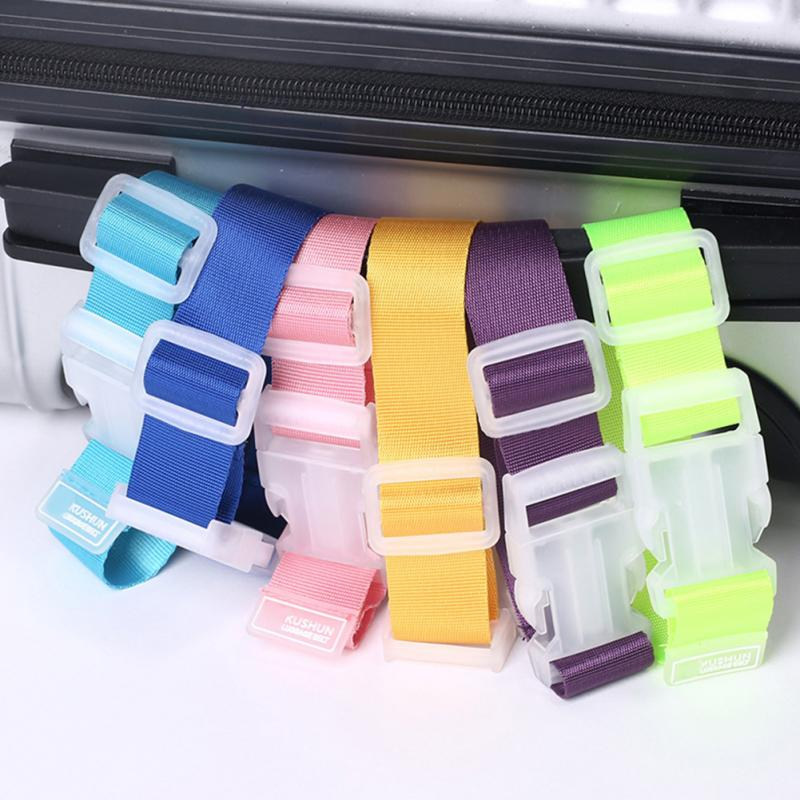 2 Pcs Adjustable Travel Suitcase Bag Luggage Straps Buckle Baggage Tie Down Belt Lock Hooks