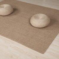 Rectangle Big Carpet Rugs Latex Backing Natural Fiber Sisal Carpet Indoor Hallway Entryway Living Room Accent Carpet