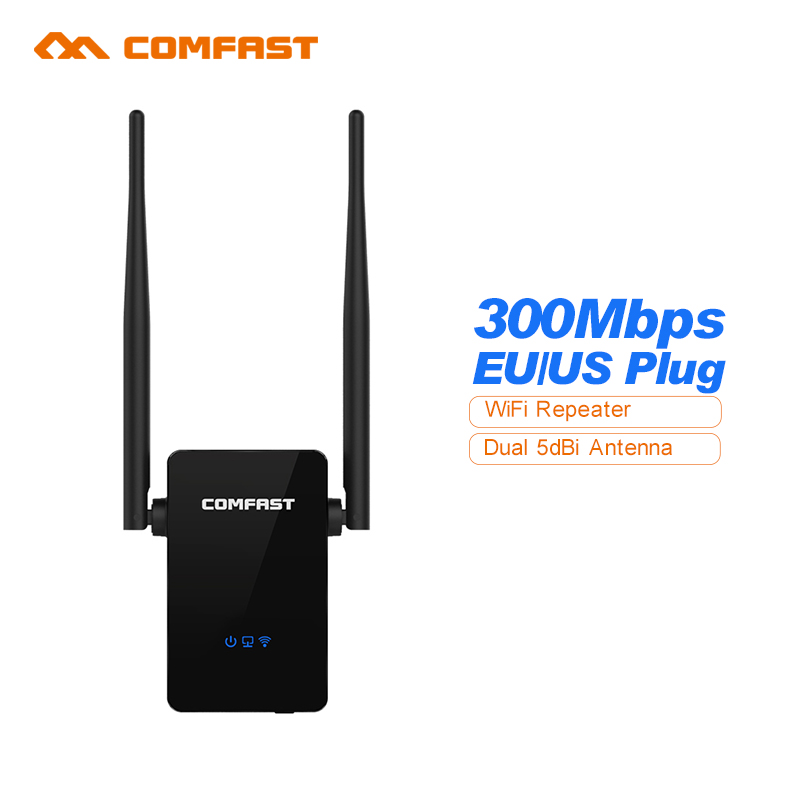 все цены на  Comfast WiFi Amplifier Router Mini Wireless Repeater 300M Wifi Router Extender 10dBI Wi fi Antenna Roteador Signal Amplifier  онлайн
