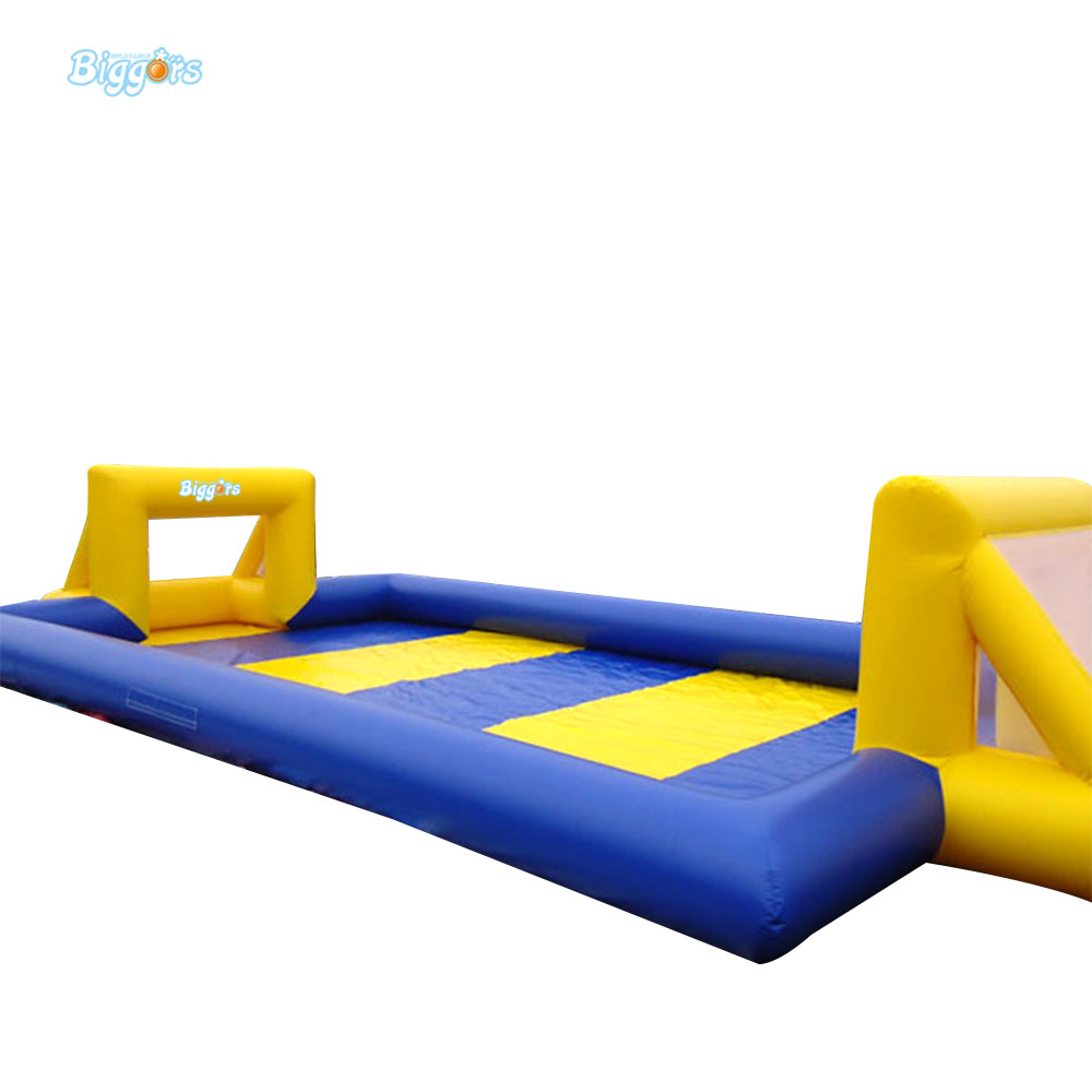Inflatable Biggors Commercial Grade Inflatable Football Field Inflatable Soap Soccer Field For Games цена