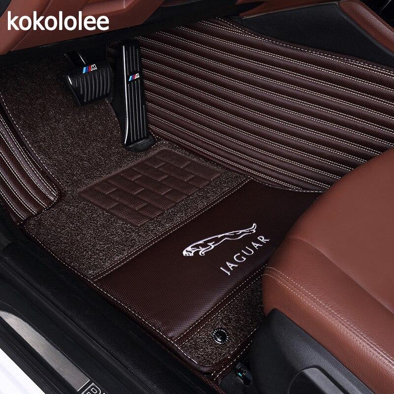 Kokololee Personnalisé tapis de sol voiture pour Jaguar XF XE XJL XJ6 XJ6L F-PACE F-TYPE marque doux et ferme auto accessoires de voiture -style de voiture tapis