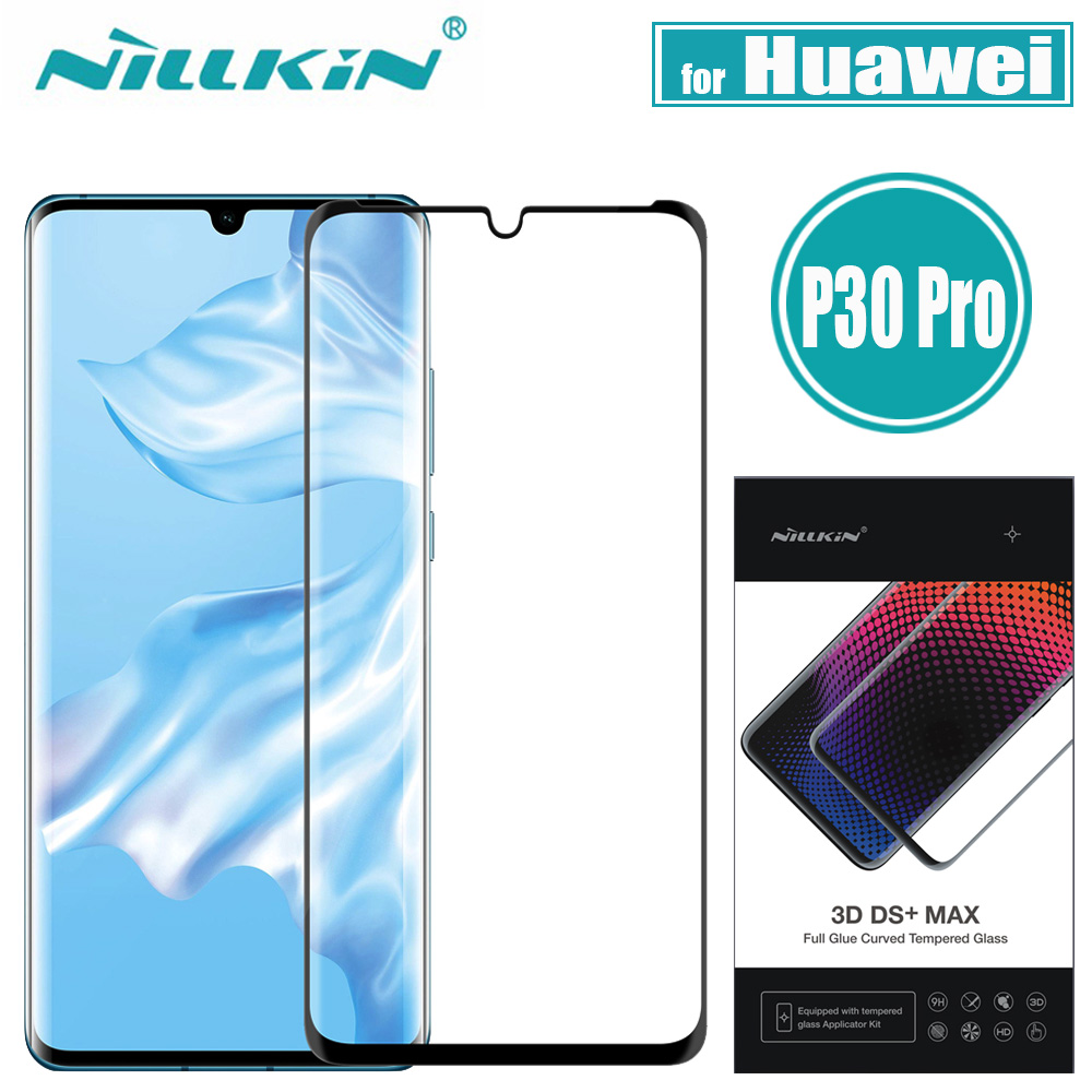 Nillkin <font><b>Huawei</b></font> <font><b>P30</b></font> <font><b>Pro</b></font> <font><b>Glass</b></font> Screen <font><b>Protector</b></font> 3D DS+MAX Full Cover 9D Edge Safety Protecive <font><b>Glass</b></font> for <font><b>Huawei</b></font> <font><b>P30</b></font> <font><b>Pro</b></font> Tempered image