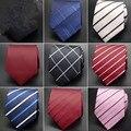 20 estilo de traje Formal de la boda Classic men tie raya rejilla 8 cm Accesorios de Moda hombre corbata de Seda corbatas ld-17