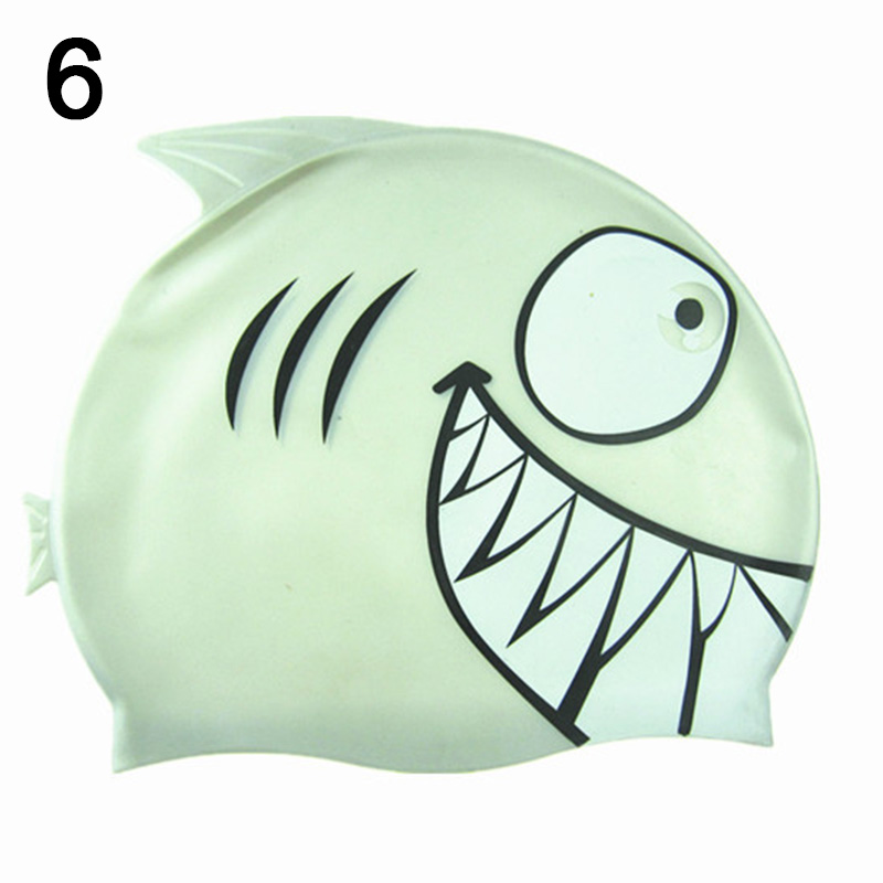 Children Swim Cap Silicone Funny Fish Kids Swimming Bathing Hat for Boys Girls FH99
