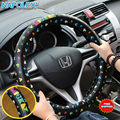 Cartoon Mickey mouse car steering wheel cover car-covers covers steering-wheel women girls Cut car styling decorations WDC-140