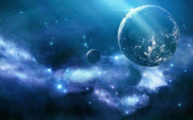6 Disegni Galaxy Cielo Stellato Blu Notte Scintillio Carta Da Parati