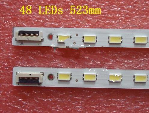 4 PCS LED Strip For KDL-46HX720 KDL-46HX820 LJ64-02640A LJ64-02859A LJ64-02860A SLED-2011SLS46-EQL-L R-48-2D 48 LEDs 523mm