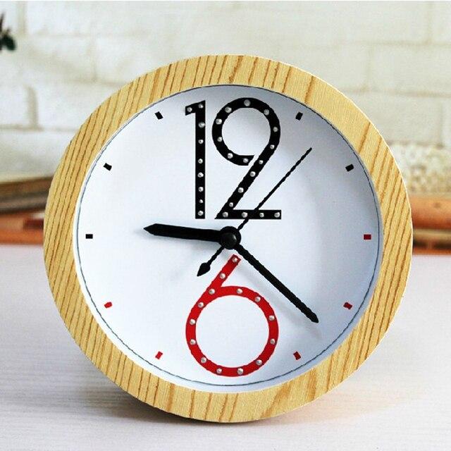 Ouyun New Arrive Fashion Simple Modern Wooden Alarm Clock For Bedroom Living Room Digital