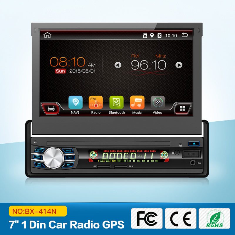 "7"" Quad Core Android 6.0 1024*600 Single One 1 Din Car Stereo Audio Autoradio Head Unit Headunit Autoradio Bluetooth Handsfree"