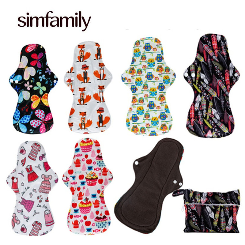 [simfamily] 6+1 Heavy Flow/Over Night Pads Set Menstrual Cloth Sanitary Pads,Reusable & Waterproof Wholesale Selling[simfamily] 6+1 Heavy Flow/Over Night Pads Set Menstrual Cloth Sanitary Pads,Reusable & Waterproof Wholesale Selling
