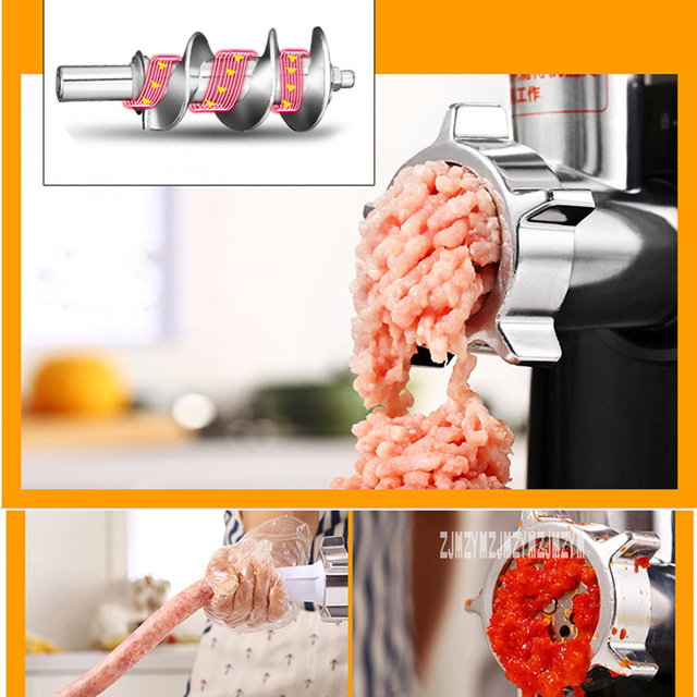 220V Fully Automatic Household Electric Meat Grinder Mincing Machine Stainless Steel Grinder Food Processor RS-JR08A 3