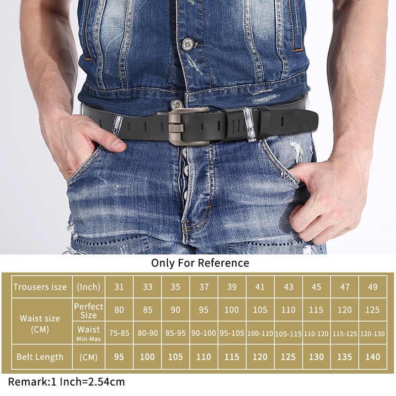 牛革本革ベルト男性ブランド男性ピンバックルジーンズカウボーイメンズベルト高級デザイナー高品質の革ベルト男性