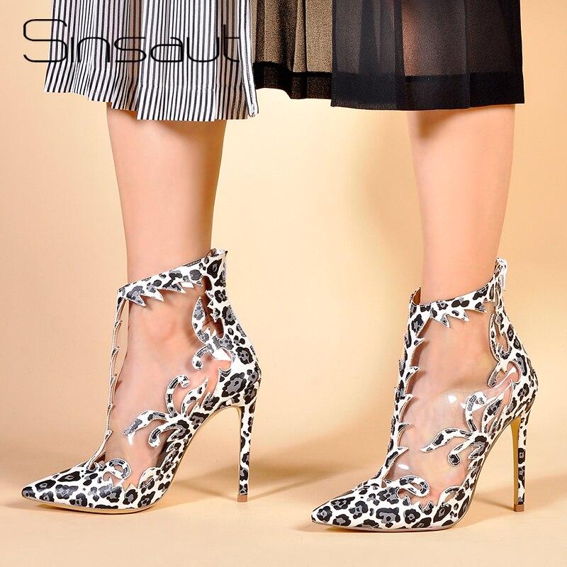Sinsaut/Женская обувь на высоком каблуке, прозрачная обувь, Perspex, женские водонепроницаемые ботильоны из ПВХ, ботинки с лазерной обработкой, диз