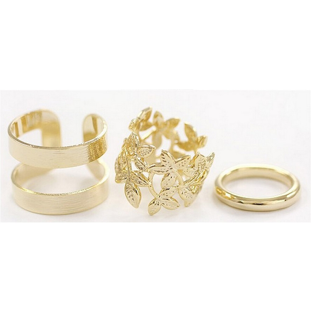 3PCS Set Fashion Women Vintage Knuckle Rings Set Gift Women ...
