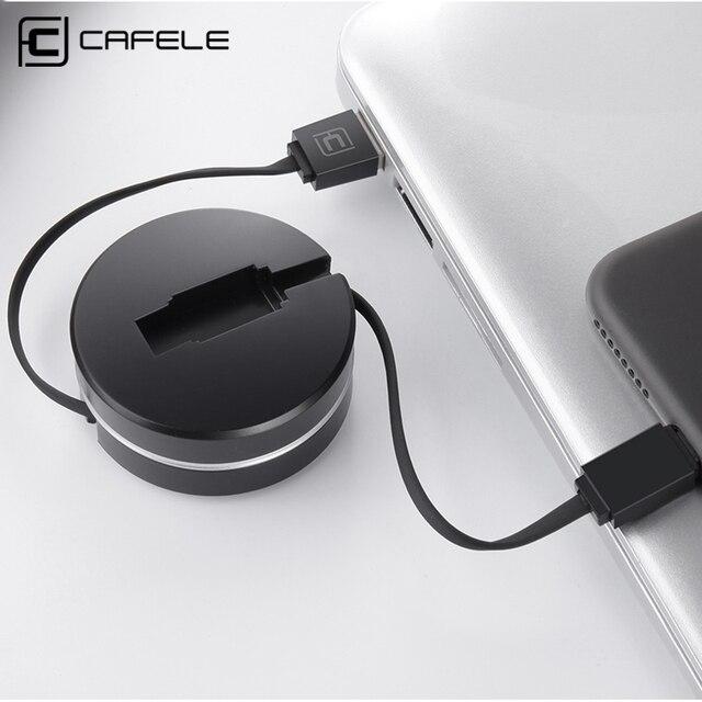 4X Cafele 1 m Micro USB Kabel untuk Redmi Ditarik Cepat Data Sync dan Pengisian Kabel Micro USB ke USB 2.0 CE sertifikasi