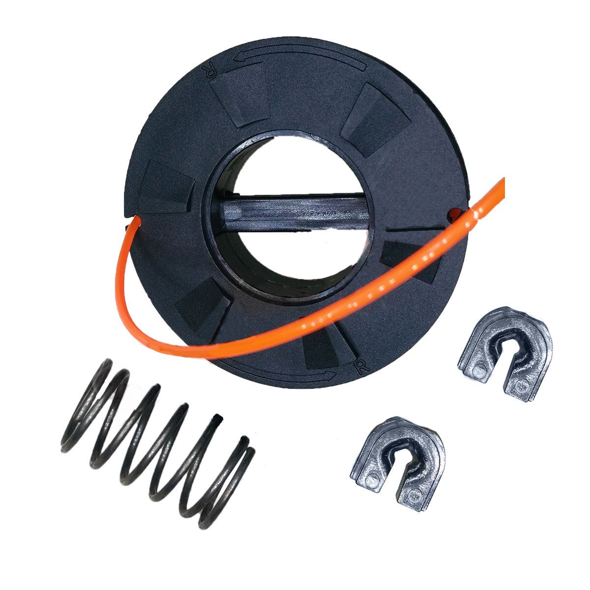 DWZ Trimmer Head Cover & Spool Kit Fits Echo Speed Feed 375 Head X472000012 Black