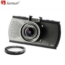 Junsun A12 Cámara Del Coche DVR de Ambarella FHD 2560*1440 P Grabador de Vídeo GPS Logger registrador Dvr dashcam con CPL Filtro polarizador