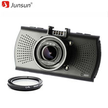 Junsun Ambarella A12 Видеорегистраторы для автомобилей Камера FHD 2560*1440 P GPS Logger видео Регистраторы dashcam регистратор видеорегистраторы с CPL поляризационный фильтр