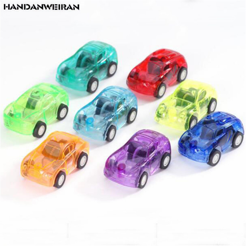 8PCS New Funny Pull Back Car Toys Children Racing Baby Mini Cars Cartoon Bus Truck For Kids Toy Boy Gifts 5CM/PCS HANDANWEIRAN