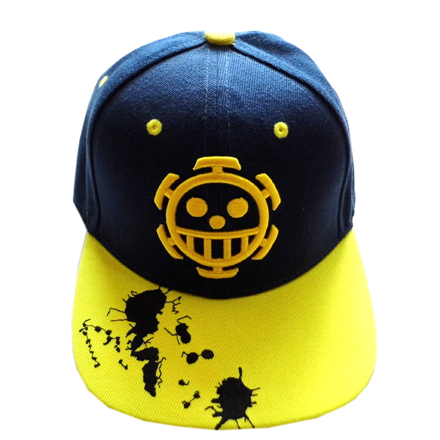 Friendly One Piece Anime Trafalgar Law Skull Hip-hop Hat Tony Tony Chopper/monky D Luffy Skull With Embroidery Mark Outdoor Cap Type 1