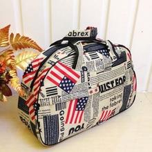 Wholesale 5* ( Waterproof Oxford Women bag American Flag Pattern Travel Bag Large Hand Canvas Luggage Bags