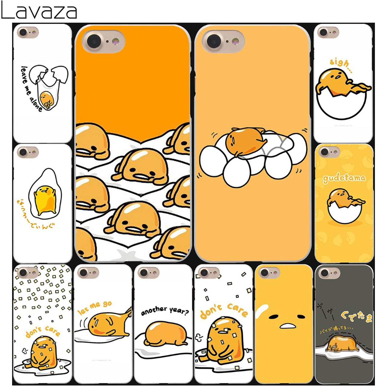 Lavaza cute lovely <font><b>gudetama</b></font> lazy egg Hard White Coque Shell Phone <font><b>Case</b></font> for Apple <font><b>iPhone</b></font> 8 7 6 6S Plus 5 5S SE 5C 4S X 10 Cover