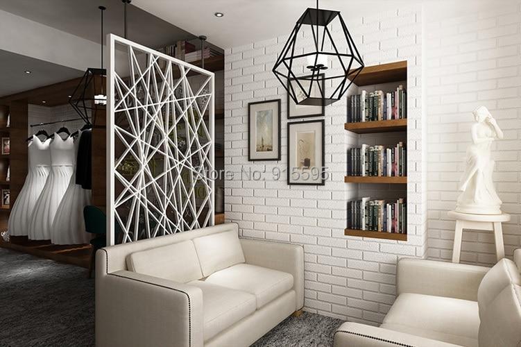 Off Biały 3D Nowoczesny Design Cegła Tapety Rolki Winylu Oblicowywanie Ścian Tapety Do Salonu Jadalni Sklep Tle 4