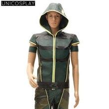 Green Arrow Oliver Queen Cosplay Costume Green hoodies Outfit Halloween Uniforms For Men Adutls