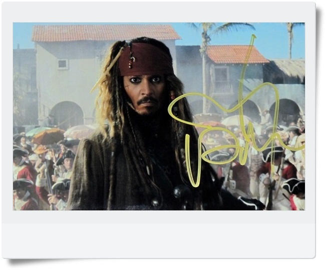 signed Johnny Depp autographed  original photo  Pirates of the Caribbean  6 inches freeshipping 062017