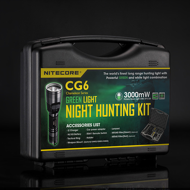 2017 NITECORE CREE XP-G2 R5 White+Green light CG6 HUNTING Flashlight KIT tools Gear Hunting Enforcement Military Outdoor Search venture gear highlander xp sbg5010dt