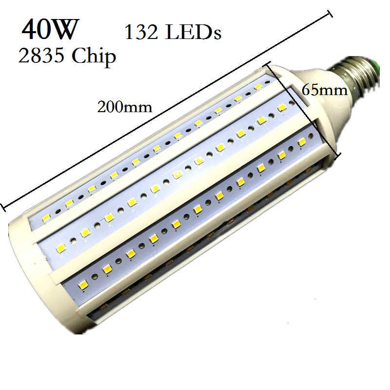Lampada 40 w 50 60 80 100 lâmpada led 5730 2835smd e27 e40 e26 b22 110 v 220 v milho lâmpada pingente iluminação lustre luz de teto