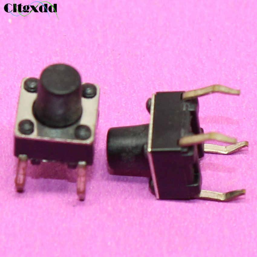 Cltgxdd 1 ~ 500 piezas 4pin 6X6X7mm mini interruptor interruptor de tacto pulsador 6*6*7mm 4 pines