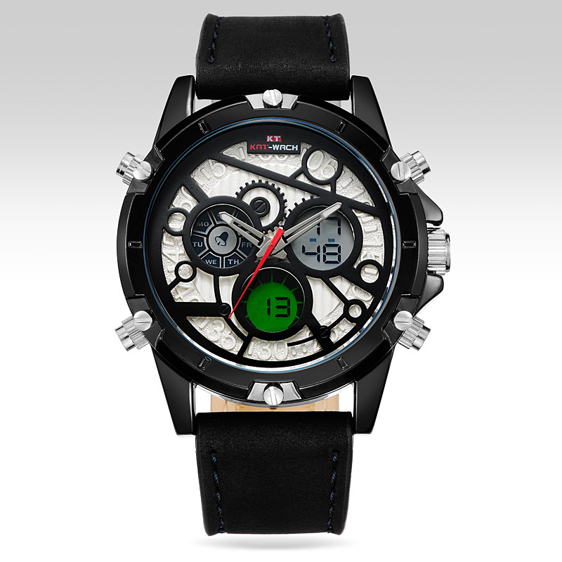 KAT-WACH Digital quartz watch mens luxury watches top brand multi-function LED Watch Sports For Men multi function casual men quartz sports watch