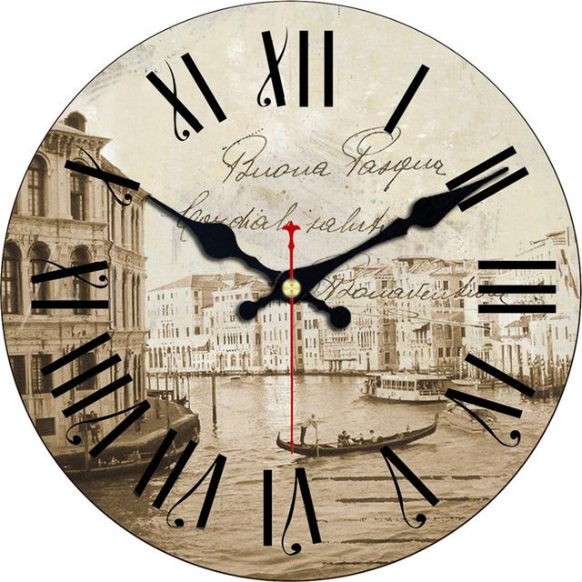 Vintage Style Wall Clock  – Sailing