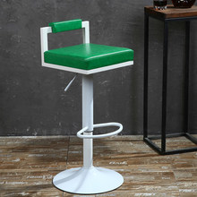 nightclub stool KTV bar chair green seat white footrest free shipping furniture shop retail wholesale