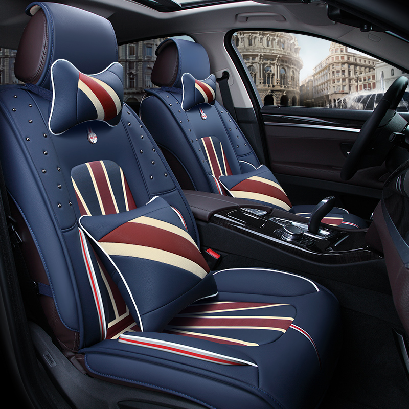 3D Car Seat Cover General Cushion High-Fiber Leather ,Car Styling For Cadillac ATS CTS XTS SRX SLS Escalade