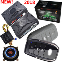 car alarm keyless entry central door lock system with alarm security protection auto ignition start stop button passwords entry