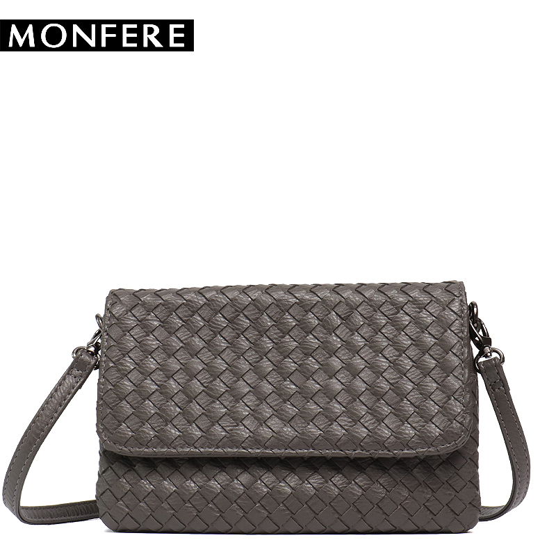 MONFERE 2018 Hot Crossbody Bags For Women Casual Mini Candy Color Messenger Bag For Girls Woven Flap Pu Leather Shoulder Bags fashion pu leather small women messenger bags for girls flap candy color shoulder long chain crossbody bag for women ladies sac