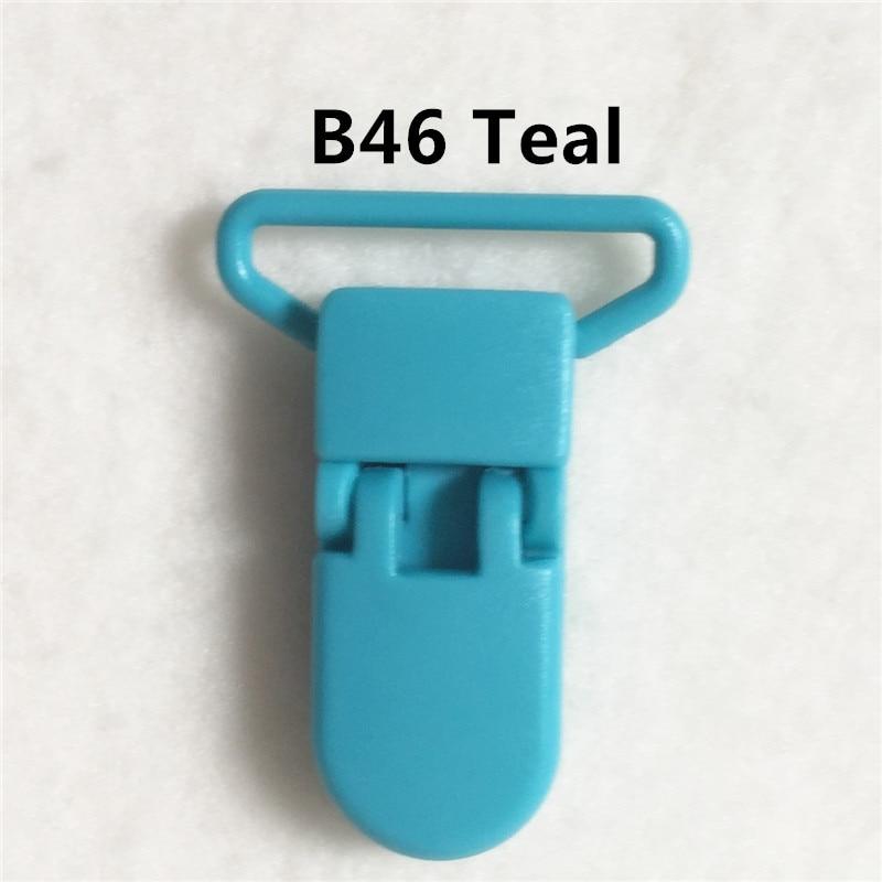 20 цветов смешанный) DHL 300 шт. Горячие формы D 2.5 см 1 ''Пластик маленьких Соски соска пустышка адаптер Chain Зажимы для 25 мм ленты - Цвет: B46