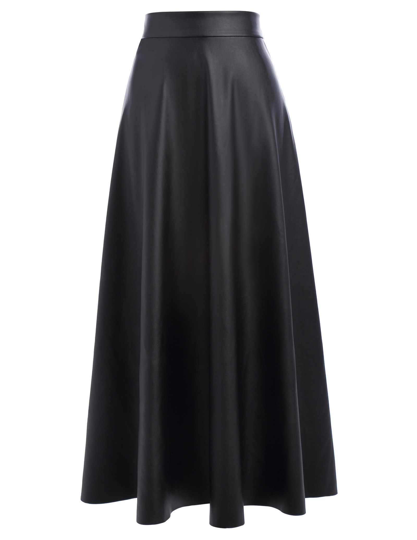 8b77d5fb68 Autumn black skirts womens vintage high waist slim long maxi skirt lolita  leather flared swing A