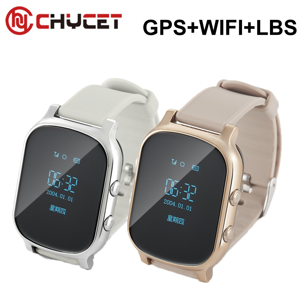 T58 Kids Elderly Adult GPS Tracker Smart Watch Google Map SOS Safety Call Tracker Locator Clock Anti-Lost Monitor Smartwatch