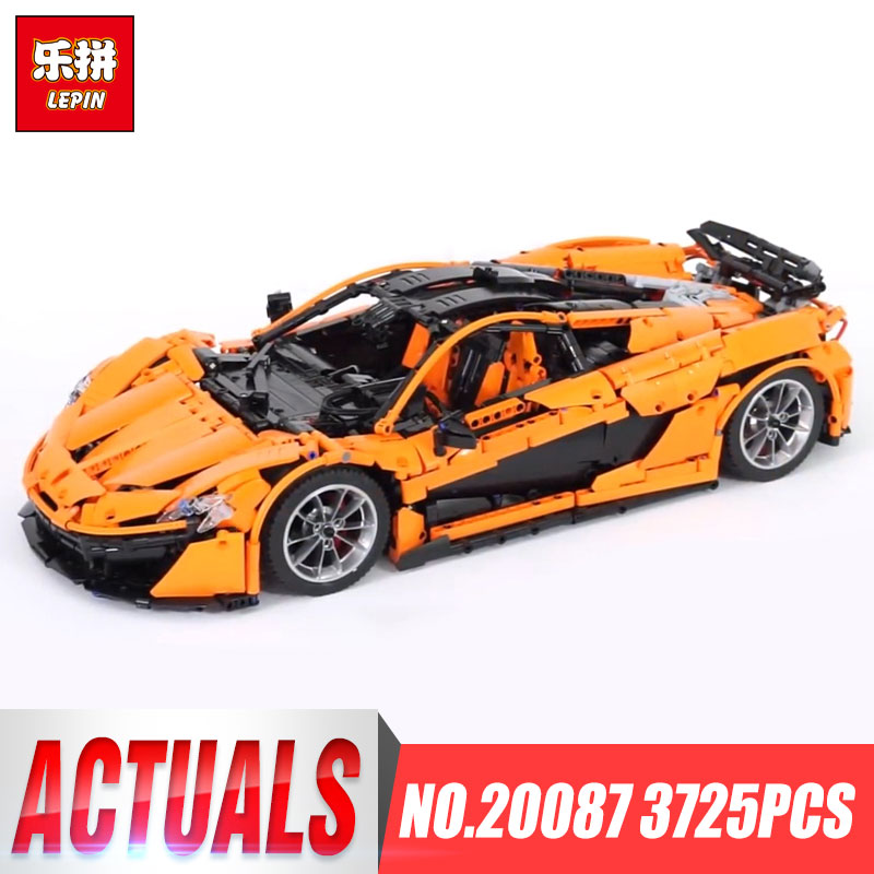 DHL Lepin 20087 Technic Car The MOC-16915 Orange Super Racing Car Set Building Blocks Bricks Legoings Toy Model Christmas Gift