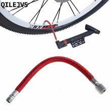 QILEJVS 1PC Bicycle Pumps Bike Inflate Pump Hose Adapter Needle Valve Football Basketball Air Bed Tyre Cycling Accessories giyo gs 41 bicycle pump 300psi inflate fork shock tyre w removable gauge bleeder foldable handle hose telescopic barrel